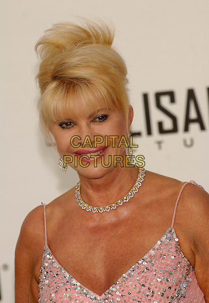 IVANA TRUMP.Arrivals at amfAR's Cinema Against Aids benefit at Moulins de Mougins, Cannes..59th International Cannes Film Festival, France. .25th May 2006.Ref: KRA.headshot portrait necklace.www.capitalpictures.com.sales@capitalpictures.com.©Capital Pictures