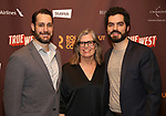 """Adam Greer, Anne Lange and Alex Mickiewiez attends the Broadway Opening Night After Party for the Roundabout Theatre Production of """"True West"""" at the American Airlines Theatre on January 24, 2019 in New York City."""