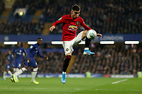 30th October 2019; Stamford Bridge, London, England; English Football League Cup, Carabao Cup, Chelsea Football Club versus Manchester United; Andreas Pereira of Manchester Utd - Strictly Editorial Use Only. No use with unauthorized audio, video, data, fixture lists, club/league logos or 'live' services. Online in-match use limited to 120 images, no video emulation. No use in betting, games or single club/league/player publications