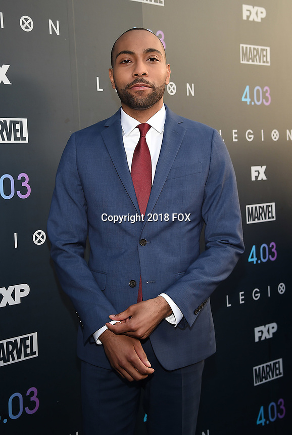 "LOS ANGELES, CA - APRIL 2: Jeremie Harris attends the season two premiere of FX's ""Legion"" at the DGA Theater on April 2, 2018 in Los Angeles, California. (Photo by Frank Micelotta/FX/PictureGroup)"