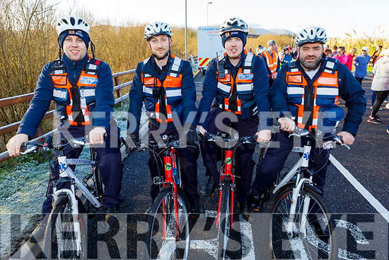 Members of the Civil Defence on their bikes and ready for road at the Operation Transformation for the National Walk Day in the Wetlands on Saturday. <br /> L to r: Andrew Foran, Darragh Lenihan, John Broderick and John Gilbert