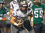 Torrance, CA 10/09/15 - Robert Gutierrez (Torrance #6) in action during the Torrance vs South High varsity football game.  South defeated Torrance 24-21.
