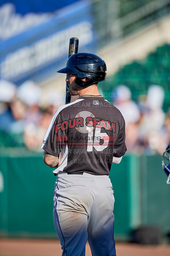 Niko Decolati (16) of the Grand Junction Rockies bats against the Ogden Raptors at Lindquist Field on June 25, 2018 in Ogden, Utah. The Raptors defeated the Rockies 5-3. (Stephen Smith/Four Seam Images)