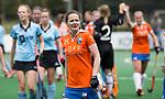 BLOEMENDAAL - Helen Richardson-Walsh (Bl'daal) na de  2e play out wedstrijd tussen Bloemendaal-HGC dames (2-0). COPYRIGHT KOEN SUYK