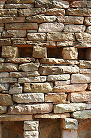A detail of a dry stone wall, Singita Pamushana Lodge, Malilongwe Trust, Zimbabwe.