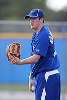 Toronto Blue Jays pitcher Jeremy Gabryszwski #51 throws in the bullpen during minor league practice at the Englebert Minor League Complex on February 27, 2012 in Dunedin, Florida.  (Mike Janes/Four Seam Images)