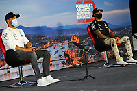16th July 2020, Hungaroring, Budapest, Hungary; F1 Grand Prix of Hungary, drivers arrival and track inspection day;  77 Valtteri Bottas FIN, Mercedes-AMG Petronas Formula One Team, 44 Lewis Hamilton GBR, Mercedes-AMG Petronas Formula One Team