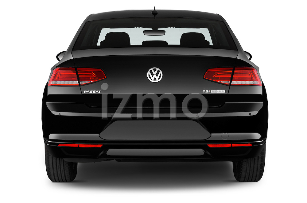 Straight rear view of a 2015 Volkswagen Passat Comfort 4 Door Sedan Rear View  stock images