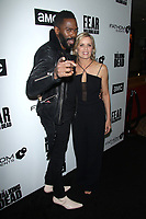 "NEW YORK, NY - APRIL 15: Colman Domingo and Kim Dickens at AMC's ""Survival Sunday: The Walking Dead & Fear the Walking Dead NY Fan Event at AMC Empire 25 in New York City on April 15, 2018."