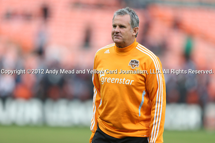 18 November 2012: Houston assistant coach Tim Hanley. DC United played the Houston Dynamo at RFK Stadium in Washington, DC in the second leg of their 2012 MLS Cup Playoffs Eastern Conference Final series. The game ended in a 1-1 tie, Houston won the series 4-2 on aggregate goals.