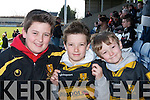 FINAL: Cheering on the Crokes at the All Ireland Club Final in Portlaoise on Sunday were Grahame, Killian and Darragh Fleming from Killarney. .