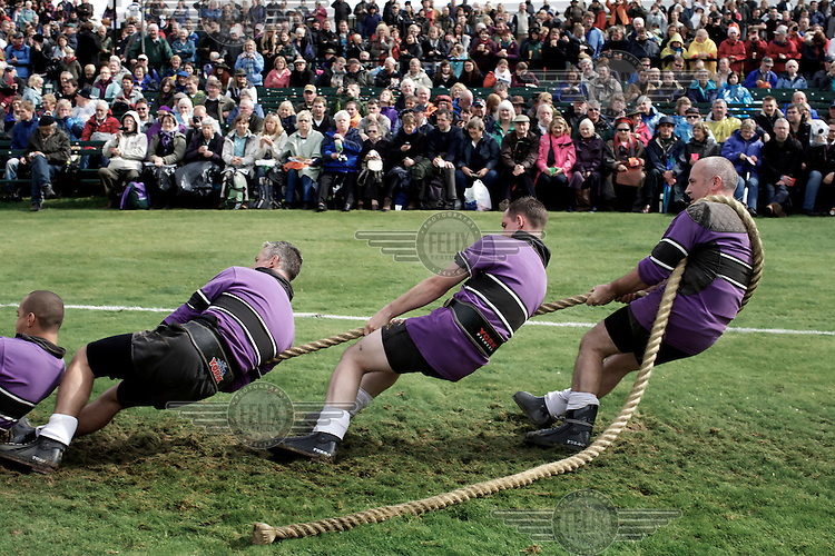 The Tug-o-war is a popular event at the Braemar Gathering Highland games held in Aberdeenshire.