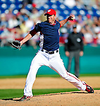 6 March 2010: Washington Nationals' pitcher Sean Burnett in action during a Spring Training game against the New York Mets at Space Coast Stadium in Viera, Florida. The Mets defeated the Nationals 14-6 in Grapefruit League action. Mandatory Credit: Ed Wolfstein Photo