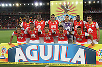 BOGOTA -COLOMBIA, 9-07-2017. Team of Independiente Santa Fe during match against  of   Atletico Nacional during match for the date 1 of the Aguila League II 2017 played at Nemesio Camacho El Campin stadium . Photo:VizzorImage / Felipe Caicedo  / Staff