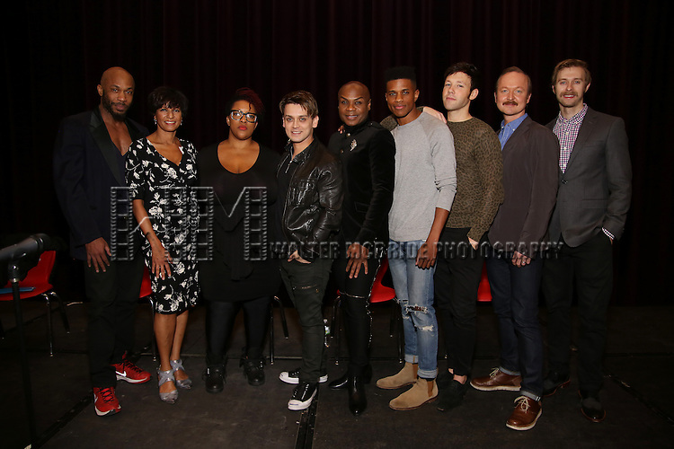 Richard E. Waits, Nancy Ticotin, Frenchie Davis, Michael Longoria, Nathan Lee Graham, Jeremy Pope, Taylor Frey, Benjamin Howes and Ben Mayne attend 'The View Upstairs' sneak preview and panel discussion at The LGBT Community Center on February 1, 2017 in New York City.