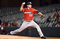 Oklahoma City RedHawks pitcher Bobby Doran (32) delivers a pitch during a game against the Memphis Redbirds on May 23, 2014 at AutoZone Park in Memphis, Tennessee.  Oklahoma City defeated Memphis 12-10.  (Mike Janes/Four Seam Images)