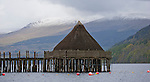 A Crannog situated in Loch Tay, Scotland.  <br />