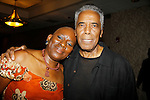 Nana Rucker poses with actor Robert Hooks (Star Trek) who is an honoree  - The National Black Theatre Festival with a week of plays, workshops and much more with an opening night gala of dinner, awards presentation followed by Black Stars of the Great White Way followed by a celebrity reception. It is an International Celebration and Reunion of Spirit. (Photo by Sue Coflin/Max Photos)