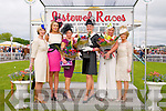 Listowel Races : The finalists at ladies day at Listowel Races on Sunday last pictured with the event organizers and judges. Aoife Hannon , organiser, Shauna Lynch , judge, Mary Woulfe, runner up, Nollaigh McCarthy McEnery, winner, Claire Hilliard,  runner up & Eilash Stack, organiser.