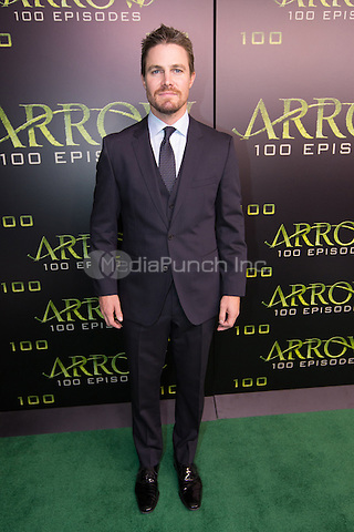 VANCOUVER, BC - OCTOBER 22: Stephen Amell at the 100th episode celebration for tv's Arrow at the Fairmont Pacific Rim Hotel in Vancouver, British Columbia on October 22, 2016. Credit: Michael Sean Lee/MediaPunch
