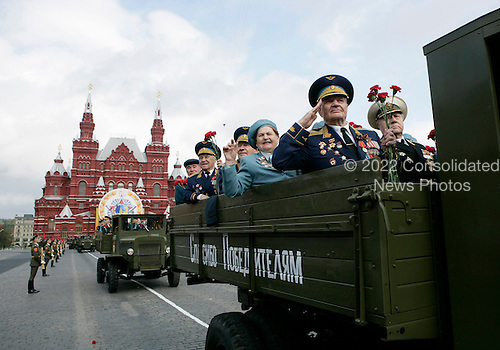 Veterans of Russia's military ride in a military procession commemorating the 60th anniversary of the end of World War II in Red Square, Moscow, Russia, Monday, May 9, 2005. <br /> Credit: Eric Draper - White House via CNP