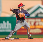 4 March 2013: Minnesota Twins infielder Brian Dozier in action during a Spring Training game against the St. Louis Cardinals at Roger Dean Stadium in Jupiter, Florida. The Twins shut out the Cardinals 7-0 in Grapefruit League play. Mandatory Credit: Ed Wolfstein Photo *** RAW (NEF) Image File Available ***