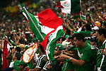 21 June 2006: Mexican fans show their support in Veltins Arena. Portugal defeated Mexico 2-1 at Veltins Arena in Gelsenkirchen, Germany in match 39, a Group D first round game, of the 2006 FIFA World Cup.  With the win, Portugal won the group, but both teams will advance to second round play.