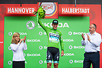 Pascal Ackermann (GER) Bora-Hansgrohe wins Stage 1 and also takes the first points Green Jersey of the Deutschland Tour 2019, running 167km from Hannover to Halberstadt, Germany. 29th August 2019.<br /> Picture: ASO/Marcel Hilger | Cyclefile<br /> All photos usage must carry mandatory copyright credit (© Cyclefile | ASO/Marcel Hilger)