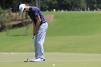 Graham Delaet (CAN) putts on the 1st green during Saturday's Round 3 of the 2017 PGA Championship held at Quail Hollow Golf Club, Charlotte, North Carolina, USA. 12th August 2017.<br /> Picture: Eoin Clarke | Golffile<br /> <br /> <br /> All photos usage must carry mandatory copyright credit (&copy; Golffile | Eoin Clarke)