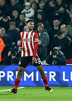 24th November 2019; Bramall Lane, Sheffield, Yorkshire, England; English Premier League Football, Sheffield United versus Manchester United; Lys Mousset of Sheffield United celebrates after he scores in the 52nd minute to make it 2-0  - Strictly Editorial Use Only. No use with unauthorized audio, video, data, fixture lists, club/league logos or 'live' services. Online in-match use limited to 120 images, no video emulation. No use in betting, games or single club/league/player publications