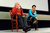 """Soirée avec Hubert Reeves autour du """"Bing-bang au vivant"""",<br /> Hubert Reeves et Marie-Hélène Saller"""