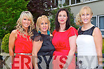 FASHION: Enjoying the Charity Fashion Show presented by Solas Na Coinnile Project at the Earl of Desmond on Thursday l-r: Fiona James, Noreen Everett, Marie Loughran, Tralee and Claire Murphy, Banna Beach hotel.