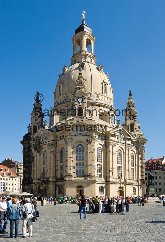 Deutschland, Freistaat Sachsen, Dresden: Frauenkirche am Neumarkt | Germany, the Free State of Saxony, Dresden: church of our lady at Neumarkt square