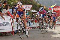 Robert Gesink and Winner Anacona during the stage of La Vuelta 2012 between La Robla and Lagos de Covadonga.September 2,2012. (ALTERPHOTOS/Acero) /NortePhoto.com<br /> <br /> **CREDITO*OBLIGATORIO** <br /> *No*Venta*A*Terceros*<br /> *No*Sale*So*third*<br /> *** No*Se*Permite*Hacer*Archivo**<br /> *No*Sale*So*third*