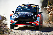 6th October 2017, Costa Daurada, Salou, Spain; FIA World Rally Championship, RallyRACC Catalunya, Spanish Rally; Mads Ostberg and his co-driver Torstein Eriksen of Norwegian compete in their M Sport World Rally Team Ford Fiesta WRC during the Terra Alta stage