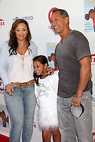 CULVER CITY, CA - AUGUST 12:  Leah Remini, Sofia Bella Pagan and Angelo Pagan at the 3rd Annual My Brother Charlie Family Fun Festival at Culver Studios on August 12, 2012 in Culver City, California.  Credit: mpi26/MediaPunch Inc.