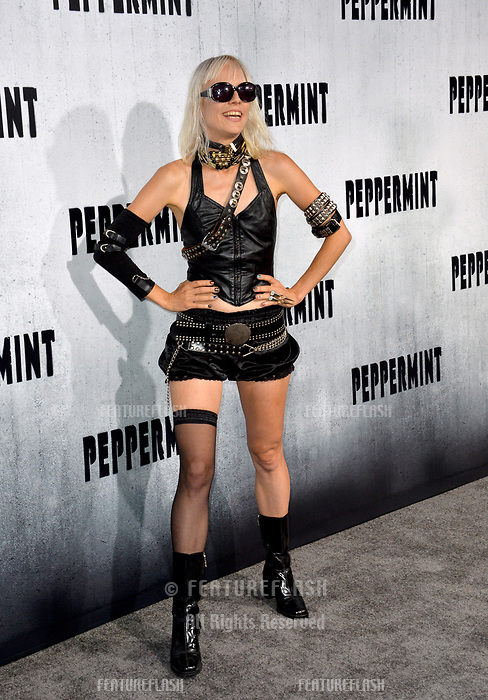 """LOS ANGELES, CA. August 28, 2018: Kate Crash at the world premiere of """"Peppermint"""" at the Regal LA Live."""