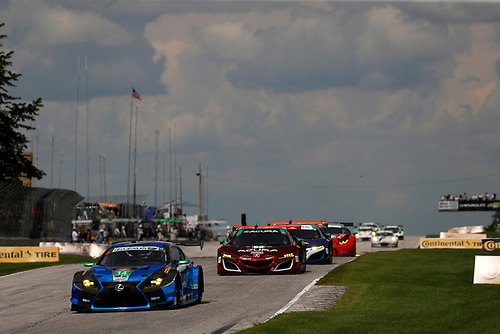 IMSA WeatherTech SportsCar Championship<br /> Continental Tire Road Race Showcase<br /> Road America, Elkhart Lake, WI USA<br /> Sunday 6 August 2017<br /> 14, Lexus, Lexus RCF GT3, GTD, Scott Pruett, Sage Karam, 86, Acura, Acura NSX, GTD, Oswaldo Negri Jr., Jeff Segal<br /> World Copyright: Michael L. Levitt<br /> LAT Images