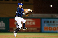 21 September 2012: Maxime Lefevre throws the ball to first base during France vs South Africa tie game 2-2, rain delayed at the end of the 9th inning at 1 AM, during the 2012 World Baseball Classic Qualifier round, in Jupiter, Florida, USA. Game to resume 22 September 2012 at noon.