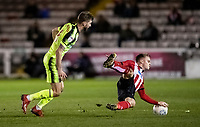 Bolton Wanderers' Luke Murphy competing with Lincoln City's Jake Hesketh (right) <br /> <br /> Photographer Andrew Kearns/CameraSport<br /> <br /> The EFL Sky Bet League One - Lincoln City v Bolton Wanderers - Tuesday 14th January 2020  - LNER Stadium - Lincoln<br /> <br /> World Copyright © 2020 CameraSport. All rights reserved. 43 Linden Ave. Countesthorpe. Leicester. England. LE8 5PG - Tel: +44 (0) 116 277 4147 - admin@camerasport.com - www.camerasport.com
