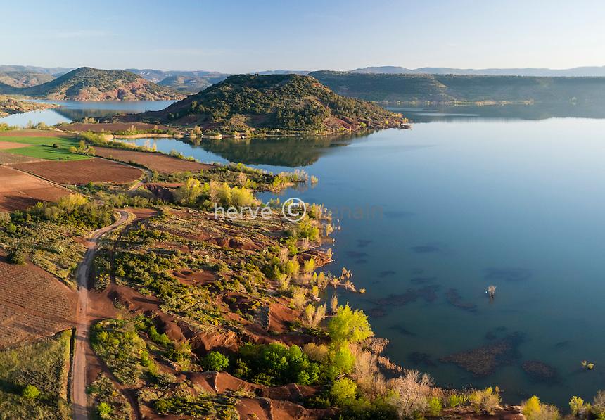 France, Hérault (34), Liausson, lac du Salagou (vue aérienne) // France, Herault, Liausson, Salagou lake (aerial view)