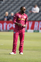 Ashley Nurse (West Indies) during West Indies vs New Zealand, ICC World Cup Warm-Up Match Cricket at the Bristol County Ground on 28th May 2019