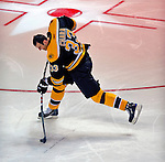 24 January 2009: Boston Bruins' defenseman Zdeno Chara attains a new NHL record for the hardest shot, with a speed of 105.4 miles per hour in the NHL SuperSkills Competition, part of the All-Star Weekend at the Bell Centre in Montreal, Quebec, Canada. ***** Editorial Sales Only ***** Mandatory Photo Credit: Ed Wolfstein Photo