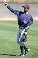 Luigi Rodriguez #14 of the Cleveland Indians.Photo by:  Bill Mitchell/Four Seam Images.