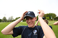 Picture by SWpix.com - 09/052018 Yorkshire Cricket College first ever game v Woodhouse grove School, Apperley Bridge, Bradford - team members and players of take to field for The Yorkshire Cricket College first ever game v Woodhouse Grove School