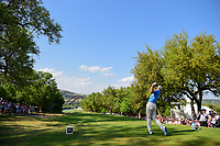 Dustin Johnson (USA) watches his tee shot on 12 during round 7 of the World Golf Championships, Dell Technologies Match Play, Austin Country Club, Austin, Texas, USA. 3/26/2017.<br /> Picture: Golffile | Ken Murray<br /> <br /> <br /> All photo usage must carry mandatory copyright credit (&copy; Golffile | Ken Murray)