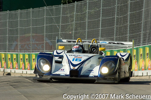 1 September 2007: The  Dyson Racing Porsche RS Spyder driven by Andy Wallace (XEN) at the Detroit Sports Car Challenge presented by Bosch, Detroit, MI