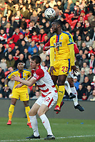 Tom Anderson of Doncaster Rovers and Michy Batshuayi of Crystal Palace during Doncaster Rovers vs Crystal Palace, Emirates FA Cup Football at the Keepmoat Stadium on 17th February 2019