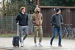 17.01.2020, Trainingsgelaende am wohninvest WESERSTADION,, Bremen, GER, 1.FBL, Werder Bremen Training ,<br /> <br /> Ankunft der Spieler am Stadion in  Zivil vor dem Auswaertsspiel in Duesseldorf<br />  im Bild<br /> <br /> Joshua Sargent (Werder Bremen #19)<br /> Ömer / Oemer Toprak (Werder Bremen #21)<br /> Christian Groß / Gross (Werder Bremen #36)<br /> <br /> Foto © nordphoto / Kokenge