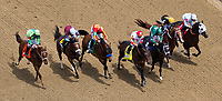 LOUISVILLE, KY - MAY 04: Backyard Heaven #4, ridden by Irad Ortiz, Jr, wins the Alysheba during an undercard race on Kentucky Oaks Day at Churchill Downs on May 4, 2018 in Louisville, Kentucky. (Photo by John Vorhees/Eclipse Sportswire/Getty Images)